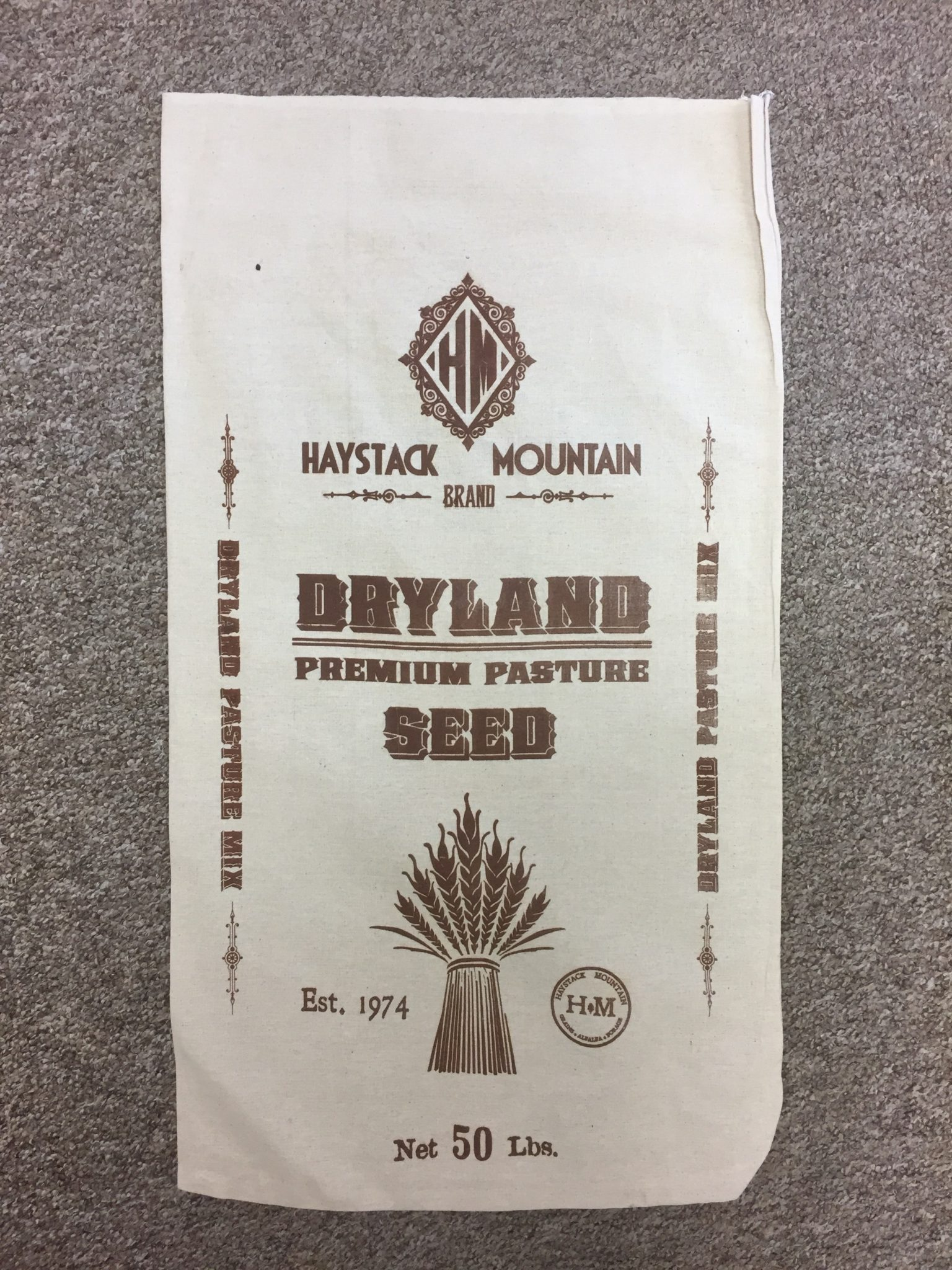 dryland pasture seed bag