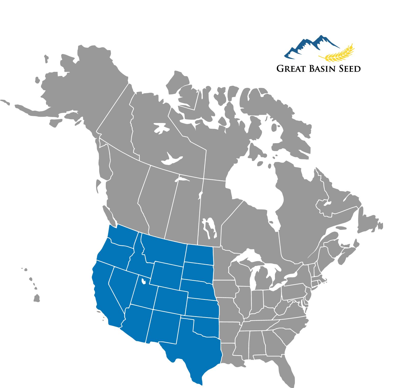 Western Badlands Seed Mix distribution area